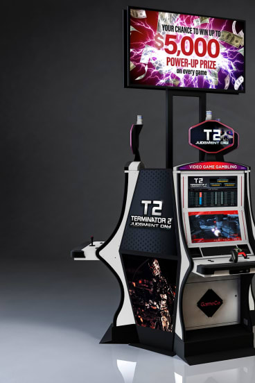 GameCo's new casino game machine, based on the movie Terminator 2, was recently launched at Caesars in Atlantic City.