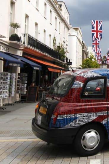 England's dreaming ... Union Jacks have become ubiquitous.