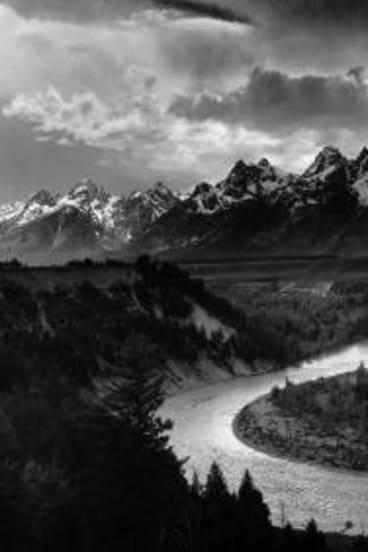 Ansel Adams' <i>The Tetons and the Snake River, Grand Teton National Park, Wyoming 1942</i>.