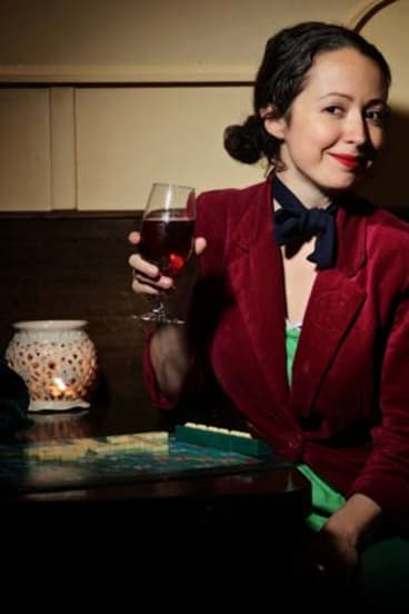 Red-letter date ... Marieke Hardy enjoys wine and Scrabble at her local pub.