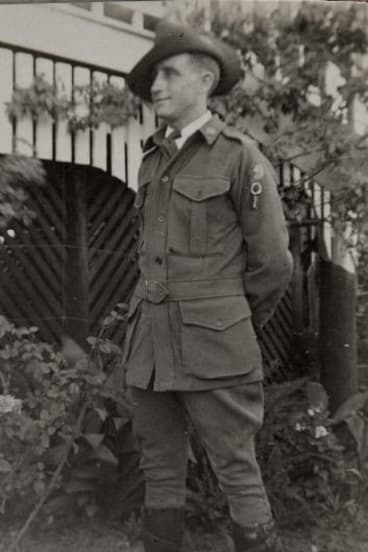 """Maurice John """"Jack"""" Pickrell who served in the 4th Divisional Transport Company."""