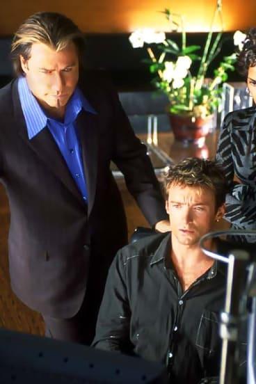 John Travolta, Halle Berry and Hugh Jackman in <i>Swordfish</i>.