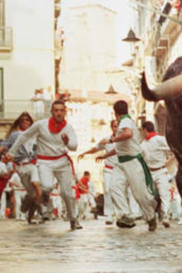 Running with the Bulls in Pamplona ...