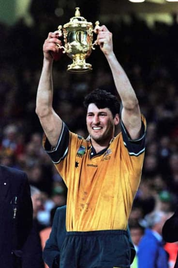 Memories ... John Eales with the World Cup in 1999.