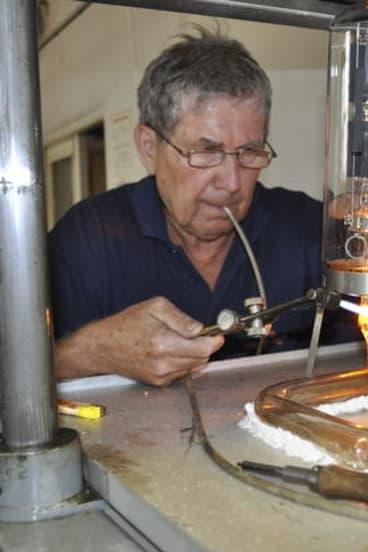 Handmade vacuum tube electronics equipment.