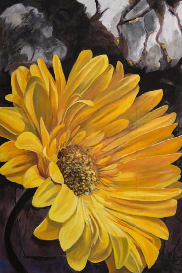 Roger Beale, Bold Gerbera, in Only Flowers at Form Studio and Gallery.