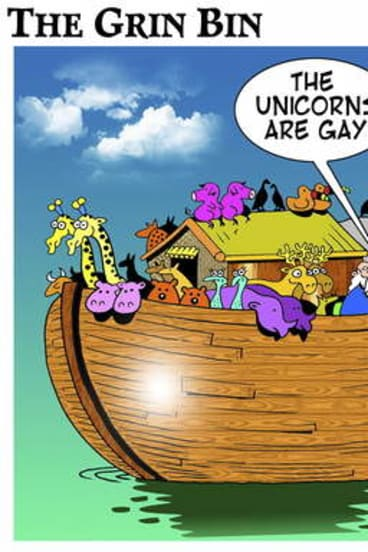 Mark Lynch's cartoon on the fate of the unicorn.