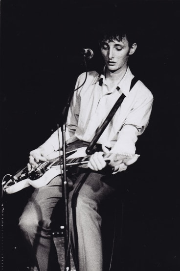 Rowland S. Howard with the guitar that is now part of the Music Vault.
