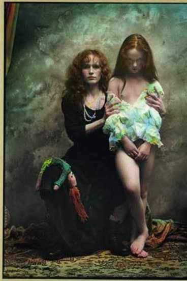 Jan Saudek's Black Sheep & White Crow. Saudek's work is characterised by an interest in beauty and personal erotic freedom.