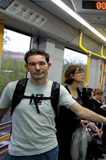 Commuters enjoy a problem free journey on the light rail extension.