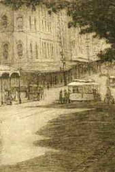 Jessie Traill's ''Afternoon in Collins Street 1911''.