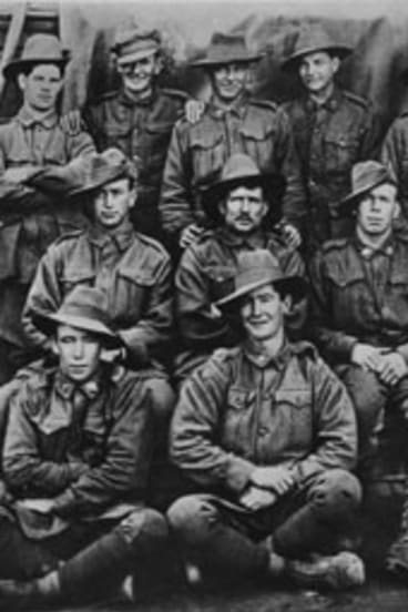 Deserters ... the postcard sent by the Anzacs, held by the National Archives in Britain.