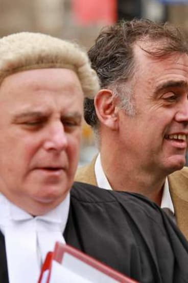 Julian Smith (right) arrives at the Supreme Court.