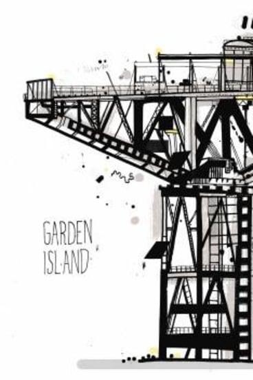 Garden Island crane by James Gulliver Hancock.