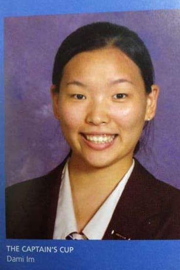 Rising star ... A photo of Dami Im in the John Paul College 2005 year book.