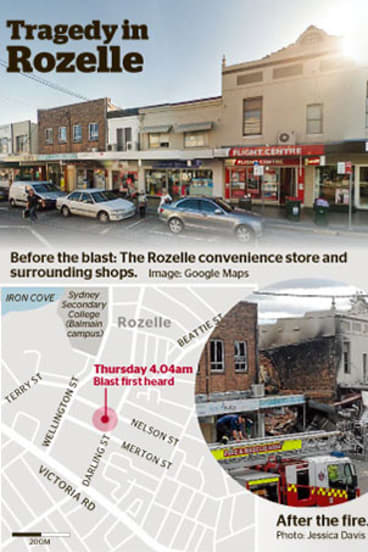 Rozelle: Before and after the blast.
