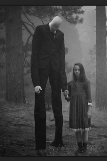 An image of the imaginary bogyman Slender Man.