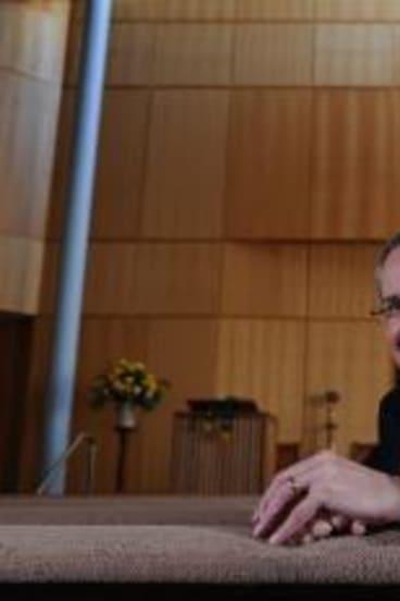 Unlikely pioneer: Reverend Professor Andrew Dutney, president of the Uniting Church of Australia.