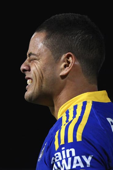 Frustrated ... the Sharks are wary of facing a vengeful Jarryd Hayne on Monday.