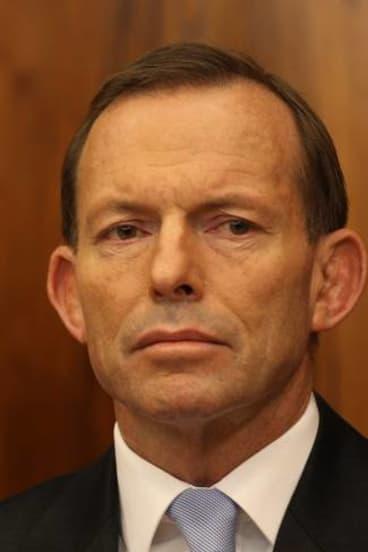 Digging in: Tony Abbott.