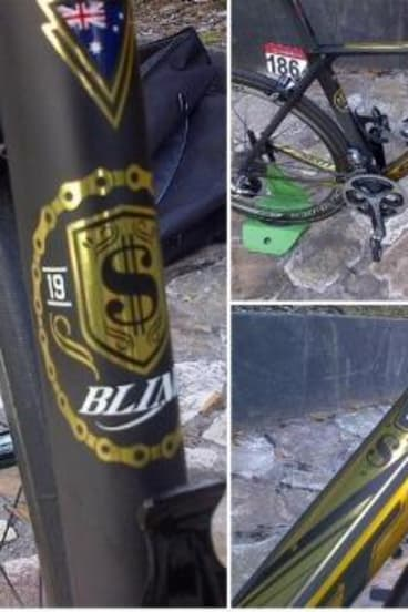 The new bike of Canberra's Michael 'Bling' Matthews.