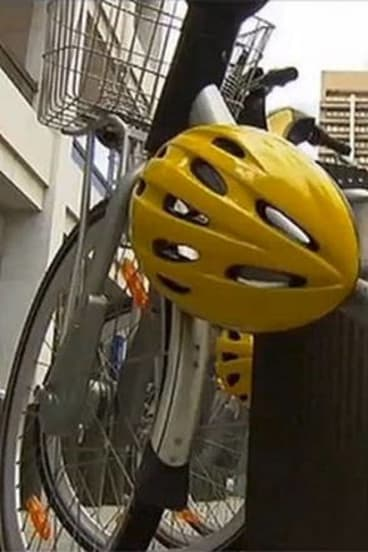 Here today ...  70 per cent of share bike helmets in Brisbane have gone missing.