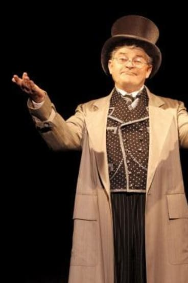 Cameo: Reg Livermore as the wizard in <i>Wicked</i>.
