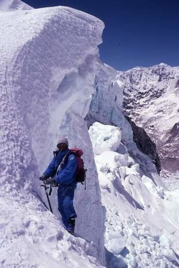 Zaharias on one of his three climbs up Mt Everest.