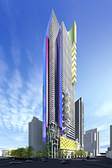 An artist's impression of the building set to soar over Southbank.