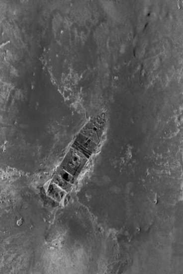 This composite image, made from sonar and more than 100,000 photos taken in 2010 from by unmanned, underwater robots, shows a small portion of the Titanic debris field.