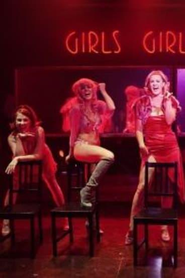 Girls, girls girls: Verity Hunt-Ballard, second from left, as Charity.