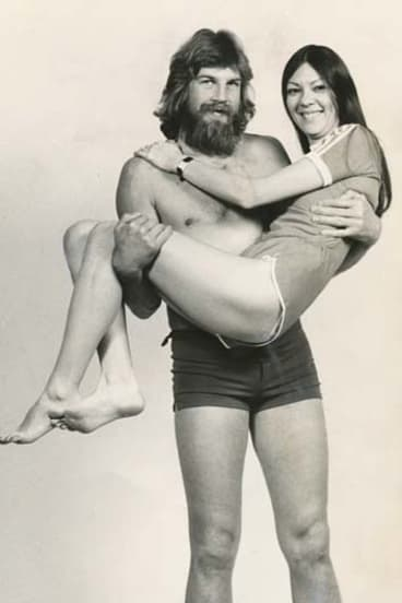 Former Demon Garry Baker, his beard, and a friend.