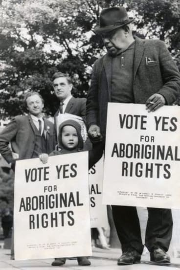 The 1967 referendum on Aboriginal rights.