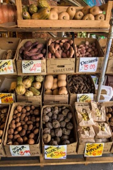 Georgie's Harvest at South Melbourne Market boasts more than 20 different varieties of potato.