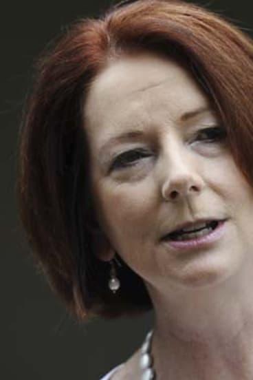 Legislating against herself ... Julia Gillard.
