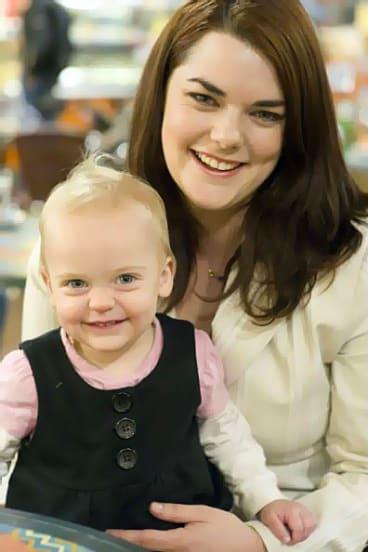 Sarah Hanson-Young and Kora.