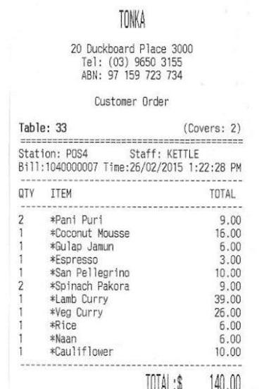 The bill, please.