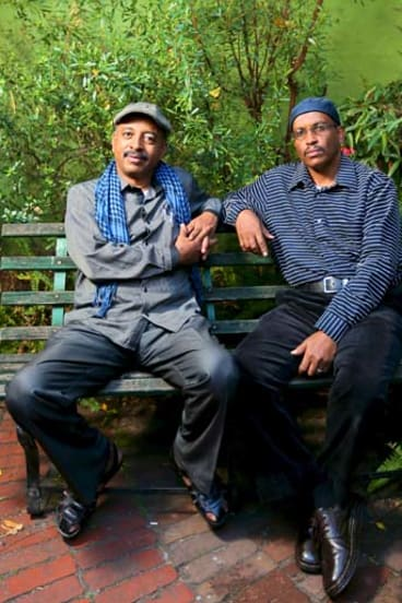 Berhan Jaber (left) and Ahmed Ali are producers for the Eritrean Voices radio program.