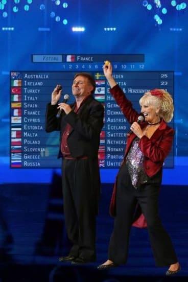 John Shortis and Moya Simpson are celebrating the Eurovison Song Contest.