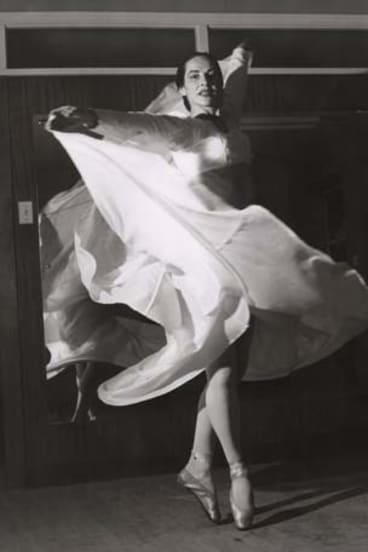 Graceful … Beth Dean Carell, whose talent impressed audiences worldwide, in her ballet studio at Parramatta in 1959.