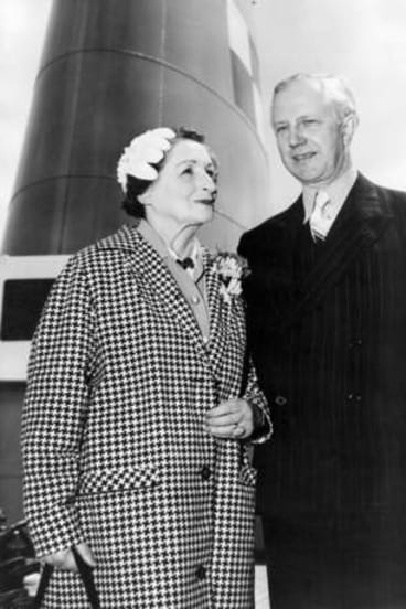 Witness to war: Brittain, who remained a staunch opponent of war well into her 70s, eith her husband Professor George Catlin in 1959.