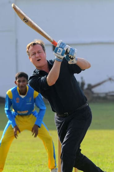 Contrast: British Prime Minister David Cameron criticised reconciliation efforts.