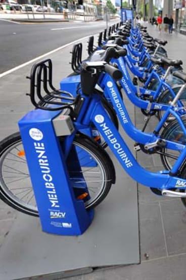 Poor performance ... Melbourne's bike hire scheme.