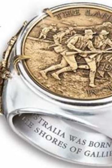 Commemorative Gallipoli ring from The Bradford Exchange.