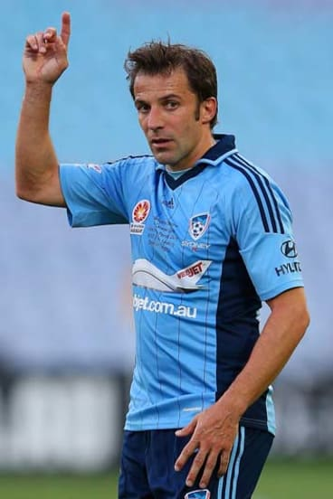 Alessandro del Piero ... this season's marquee signings have boosted the A-League's television audience.