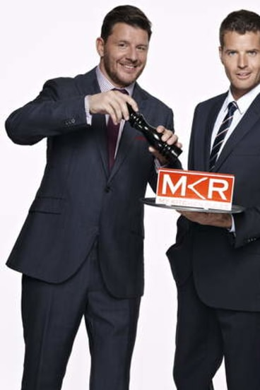 <i>My Kitchen Rules</i> hosts Manu Feildel and Pete Evans.