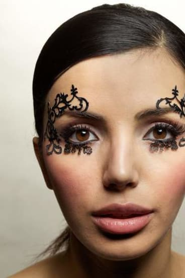 Paper lashes are things of wonder.<br>Model: Tanya from Viscious Models. <br>Hair and make-up: Yvonne Borland.