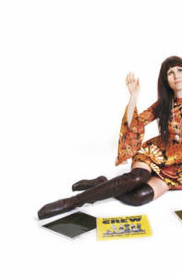 """Flower power … DJ Emma Peel's favoured vintage era is 1968-71. """"For me, dressing is like daily art, where you're the blank canvas,"""" she says."""
