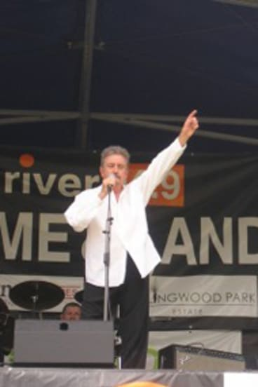 Pahnie Jantzen (right) performing with Wickety Wak.