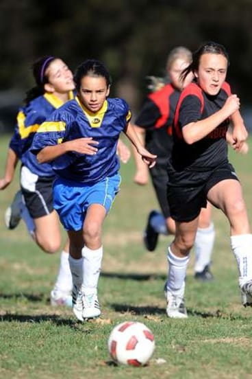 Game on: Primary school soccer at Wanniassa District Playing Fields.